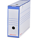 Office Depot Archiefdozen A4 Blauw Karton 24,5 x 10 x 33,5 cm 25 Stuks