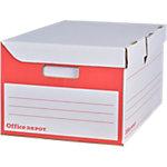 Office Depot Container voor A4 archiefdozen Rood Karton 35,4 x 54,5 x 25,5 cm 10 Stuks