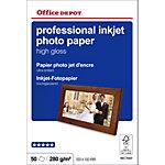 Office Depot Professional Inkjet fotopapier 10 x 15 cm Hoogglans 270 g
