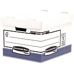 Bankers Box Opbergdoos met losse deksel Prima Standaard A4 Wit Karton 33,5 x 40,4 x 29,2 cm 10 Stuks