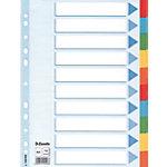 Esselte Tabbladen Multicoloured Card Divider A4 Kleurenassortiment 10 tabs 11  gaats Karton