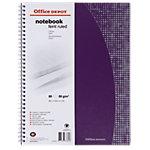 Office Depot Spiraalblok Gelinieerd A4   80 g