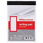Office Depot Schrijfblok Wit Gelinieerd Ja A6 10,5 x 14,8 cm 60 g