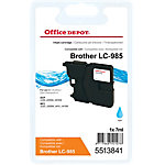 Office Depot Compatible Brother LC985C Inktcartridge Cyaan