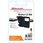 Office Depot Compatible Brother LC985BK Inktcartridge Zwart