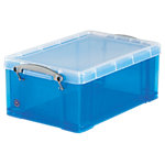 Really Useful Boxes Archiefboxen UB9LCBL A4+ Transparant, blauw Plastic 9 liter