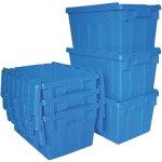 Viso Distributiebak met deksel Inhoud 50 L 600 x 600 x 400 mm Blauw Stuks