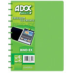 ADOC Showalbum Colorline A4 Groen Polypropyleen 247 x 310 mm 30 Hoezen