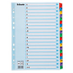 Esselte Alfabetische tabbladen 100166 A4 Kleurenassortiment 20 tabs 11 gaats Karton A   Z