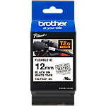 Brother Labels TZeFX231 Zwart op Wit 12 mm x 8 m