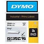 DYMO gekleurd vinyl Rhino Zwart op Wit 19 mm x 5,5 m