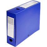 Exacompta Archiveringsdozen 59832E A4 Blauw 80 mm Met drukknop en grijpring
