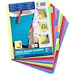 Exacompta Tabbladen Paper by Nature A4+ Kleurenassortiment 12 tabs 23 gaats Karton Blanco