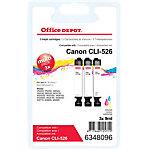 Office Depot Compatible Canon CLI 526CMY Inktcartridge 3 Kleuren Multipack
