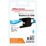 Office Depot Compatible Brother LC1240C Inktcartridge Cyaan