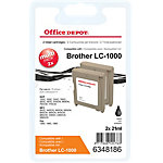 Office Depot Compatible Brother LC1000BK Inktcartridge Zwart Duopack