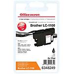 Office Depot Compatible Brother LC1100BK Inktcartridge Zwart Duopack