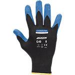 JACKSON Nitril Handschoenen 40228 Nylon XL Palm gecoat met nitril voor extra gevoelige tastbarheid Blauw, zwart 2 Stuks