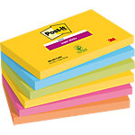 Post it Super Sticky Notes Neon geel, blauw, neon groen, fuchsia, oranje Effen 76 x 127 mm 6 x 90 Vel