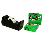 Scotch C38 Tape Zwart + 4 rollen Scotch® Magic™ tape 19 mm x 33 m