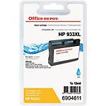Office Depot Compatible HP 933XL Inktcartridge CN054AE Cyaan