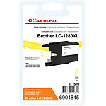 Office Depot Compatible Brother LC1280XLY Inktcartridge Geel