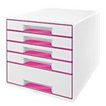 Leitz WOW Ladenkastje Wit, metallic roze