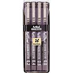 Artline 694200 Fineliner 0,2 mm, 0,4 mm, 0,6 mm, 0,8 mm Zwart 4 Stuks