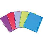 ATOMA 120BL Notitieboek Kleurenassortiment Geruit 6 gaats A4   90 g