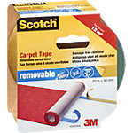 Scotch Extra strong Dubbelzijdige tapijttape Rood 50 mm x 20 m