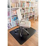 clear style` Stoelmat Rechthoekig voor Zachte vloeren Zwart 120 x 150 cm