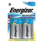 ENERGIZER Batterijen D Advanced 2 Stuks