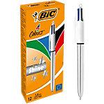 BIC® 4 COLOURS SHINE 4 kleuren balpen 0,4 mm Kleurenassortiment 12 Stuks