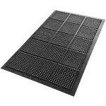 Floortex Vloermat Anti vermoeidheid Zwart 150 x 90 cm