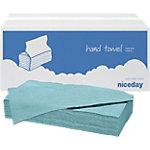 Niceday Gerecycleerde V vouw handdoekjes 1  laags Pak 20