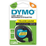 DYMO Labels Plastic 91202 Zwart op Geel 12 mm x 4 m