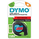 DYMO Labels Plastic 91203 Zwart op Rood 12 mm x 4 m