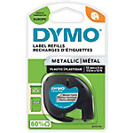 DYMO Labels Metallic 12267 Zwart op Zilver 12 mm x 4 m