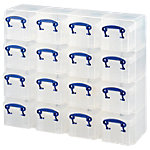 Really Useful Boxes Archiefboxen Transparant Plastic 16 x 0,14 l 16 Stuks