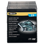 Fellowes CD boxen Slimcase Plastic Transparant voor 1 CD