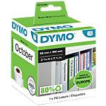 DYMO Ordneretiketten LW99019 59 x 190 mm Wit 110 Stuks