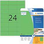 HERMA Special Multifunctionele etiketten Groen 70 x 37 mm 20 Vel 480 Stuks