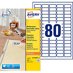 Avery Stick & Lift Herkleefbare etiketten Wit 35,6 x 16,9 mm 25 Vel 2000 Stuks