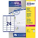 Avery QuickPEEL™ Adresetiketten Wit 63,5 x 33,9 mm 100 Vel 2400 Stuks