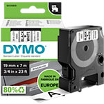 DYMO Labels D1 45803 Zwart op Wit 19 mm x 7 m