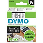 DYMO Labels D1 43613 Zwart op Wit 6 mm x 7 m