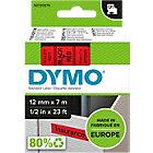DYMO Labels D1 45017 Zwart op Rood 12 mm x 7 m
