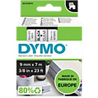 DYMO Labels D1 40910 Zwart op Transparant 9 mm x 7 m