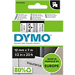 DYMO Labels D1 45010 Zwart op Transparant 12 mm x 7 m