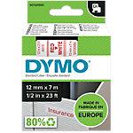 DYMO Labels D1 45015 Rood op Wit 12 mm x 7 m